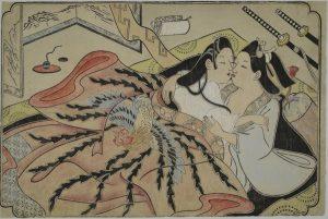 lesbian-japanese-miniature-katsushika-hokusai-shunga-900