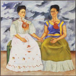 "S0065874 The Two Fridas, 1939. Oil on canvas. 5' 8 1/2"" x 5' 8 1/2"". Image licenced to Lynn Dierks WALKER ART CENTER by Lynn Dierks Usage :  - 3000 X 3000 pixels (Letter Size, A4)  © Schalkwijk / Art Resource"
